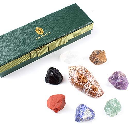 iAiBiCi Premium Grade Crystals Healing Chakra Stones, Tumbled Chakra Gemstones for Reiki Healing,Meditation,Energy…