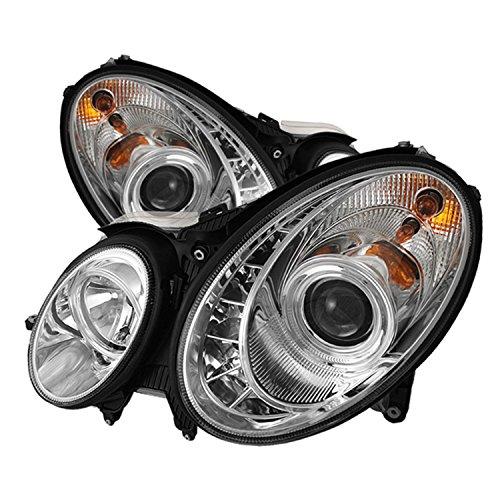 Spyder Auto Mercedes Benz W211 E-Class Chrome DRL LED Crystal Headlight (Class Crystal Headlights)
