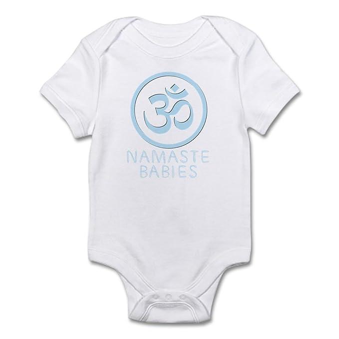 Amazon.com: CafePress Namaste bebés traje de cuerpo Body de ...