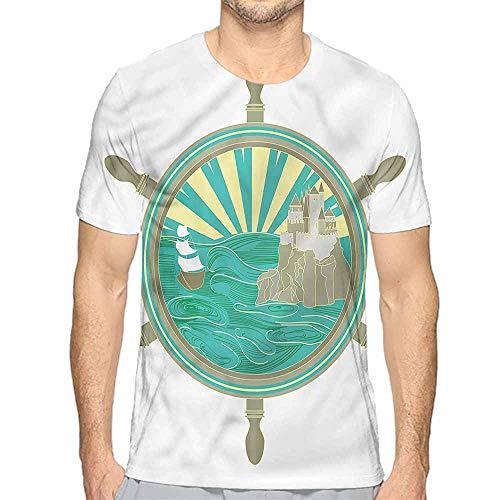 t Shirt Printer Ships Wheel,Sailing to The Castle Junior t Shirt XL ()