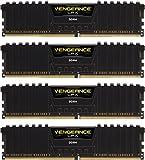 Corsair Vengeance LPX 16GB (4x4GB) DDR4 DRAM 3200MHz (PC4 25600) C16 Memory Kit - Black (CMK16GX4M4C3200C16)