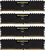 Corsair Vengeance LPX 16GB (4x4GB) DDR4 DRAM 3200MHz (PC4 25600) C16 Memory Kit - Black (CMK16GX4M4C3200C16)