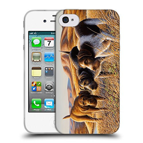 Cooliphone4Cases.com-2826-The Perfect Trio Wildlife And Animals Soft Gel Case for Apple iPhone 4 / 4S-B01KX49Z58-T Shirt Design
