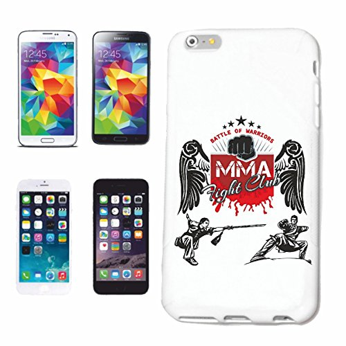 "cas de téléphone iPhone 7S ""FIGHT CLUB MMA ARTS IMPORTANTS MIXTES Fightclub STREET FIGHT BOXE KARATE KICK BOXING JUDO"" Hard Case Cover Téléphone Covers Smart Cover pour Apple iPhone en blanc"