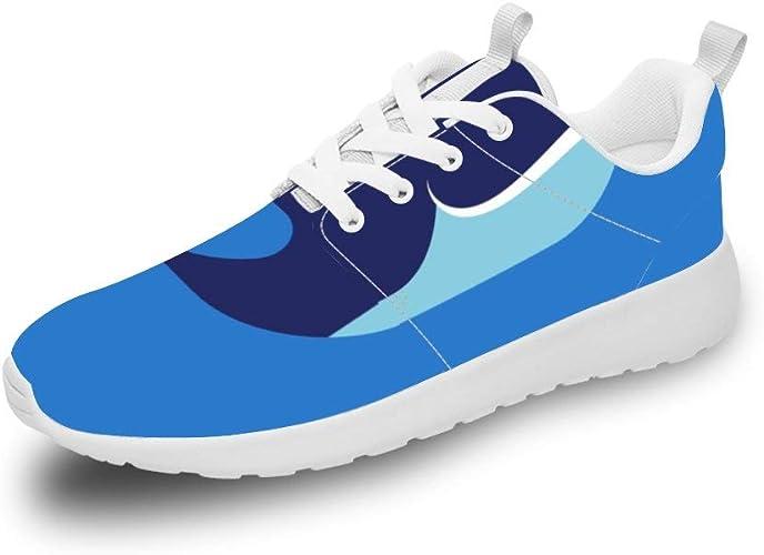 Mesllings Zapatillas de Running Unisex con diseño de Ballena Azul ...