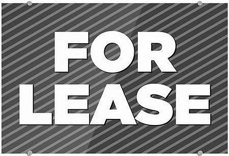 27x18 5-Pack CGSignLab for Lease Stripes Gray Premium Brushed Aluminum Sign