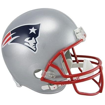 9ec40b90ba715 Riddell – Réplica de tamaño completo New England Patriots Casco Casco