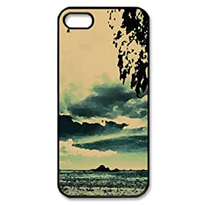 Beach Background Watercolor style Cover iPhone 5 and 5S Case (Beach Watercolor style Cover iPhone 5 and 5S Case)