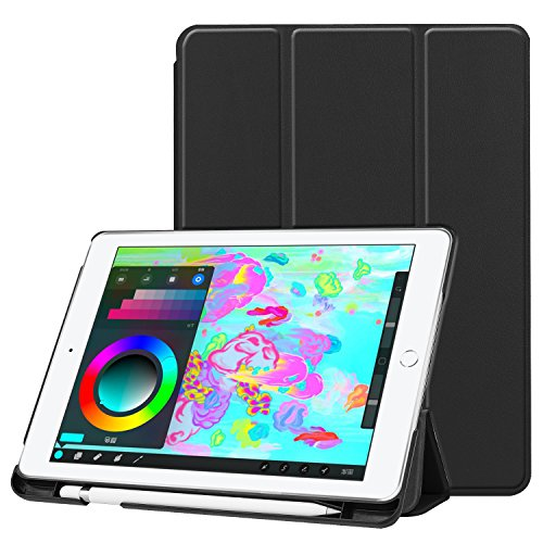 iPad 9.7 2018/2017 Case, UZER Ultra Slim Lightweight PU Leather Smart Case Protective Folio Folding Trifold Stand with Soft TPU Back Cover for Apple iPad 5th/6th Generation 9.7 Inch