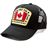 Wiberlux DSquared2 Unisex Embroidered Maple Flag Patch Mesh Back Cap One Size Black