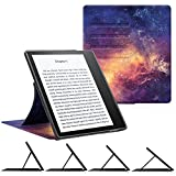 CaseBot Stand Case for Kindle Oasis (9th Gen, 2017 Release ONLY) - Slim Fit Multi Angle Hands-free Viewing Cover with Auto Sleep / Wake for Amazon All-New 7'' Kindle Oasis E-reader, Galaxy