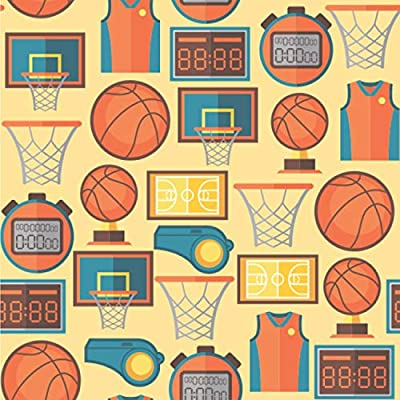 Amazon Com Youcustomizeit Basketball Wallpaper Surface Covering