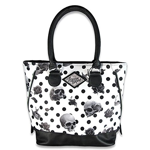 Bolso grande de calavera con pin-up Rockabilly Liquor Brand