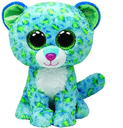 3f0a7c2b611 Image Unavailable. Image not available for. Color  Ty Beanie Boos Leona  Blue Leopard ...