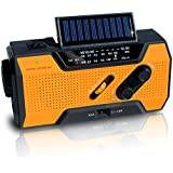 NOAA Weather Radio   Solar Emergency Survival Device with AM/FM Transmission   Windup Power for Emergencies, Tornadoes, Hurricanes   Micro USB Charger and Power Bank for Cell Phones and Electron