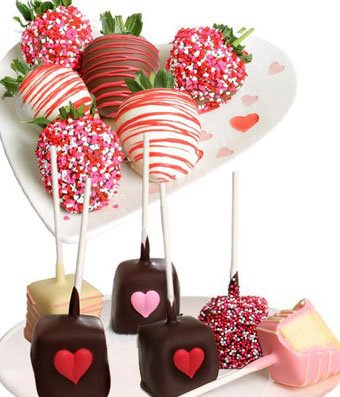 From You Flowers - Love Chocolate Covered Strawberries & Cheesecake Pops (12 pc)