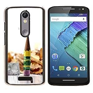 For Motorola Droid Turbo 2 / Moto X Force Case , Naturaleza Hermosa Forrest Verde 9- Diseño Patrón Teléfono Caso Cubierta Case Bumper Duro Protección Case Cover Funda