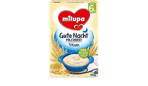 milupa Noche 7 Papilla De Grano a partir de 6 Mes, 4 unidades (4 x 500 g Paquete): Amazon.es: Alimentación y bebidas
