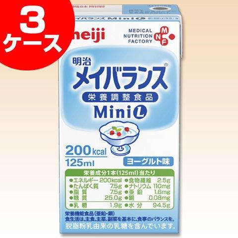 明治 メイバランスMini ヨーグルト味(125ml×24本)×3ケースセット B0181XCHIU