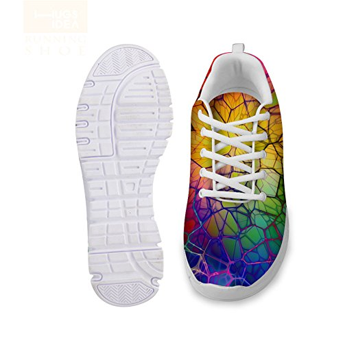 Womens Painting Casual Lightweight Running Sneakers HUGS Shoes IDEA 1 Pattern Design Fashion 5XSFtwq