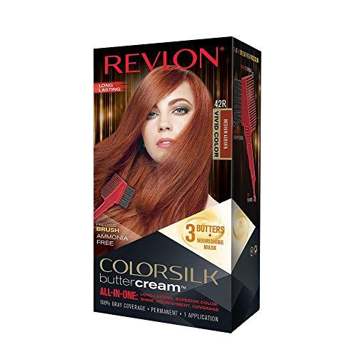 Revlon Colorsilk Buttercream Hair Dye, Vivid Medium Auburn, 1 Count