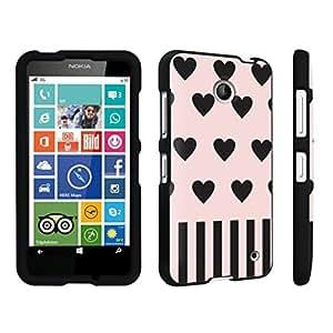DuroCase ? Nokia Lumia 630 Hard Case Black - (Pink Hearts)