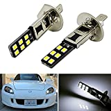 KATUR 2x H1 6500K HID Xenon White 12-SMD LED Replacement Bulbs Car Fog Daytime Running Lights DRL Lamps