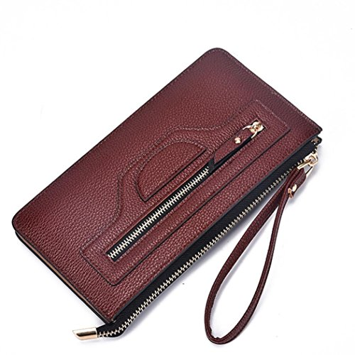 Price comparison product image GBSELL Fashion Women Lady Leather Long Wallet Clutch Card Holder Purse Handbag (Coffee)