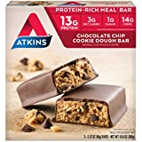 Atkins Protein-Rich Meal Bar, Chocolate Chip Cookie Dough, 5 Count