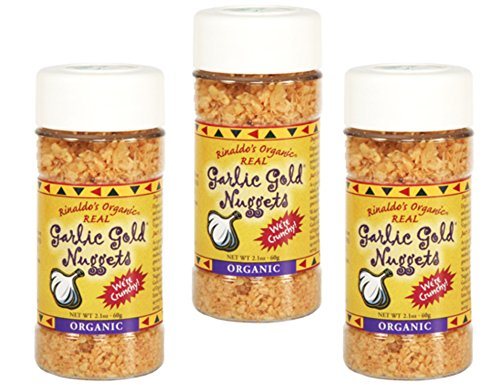- USDA Organic Garlic Gold Nuggets, Roasted Garlic Seasoning Granules, Sodium Free no MSG Free, Vegan Keto Paleo Friendly Food, 2.1 Oz Jar (Pack of 3)