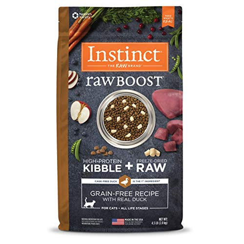Instinct Raw Boost Grain Free Recipe with Real Duck Natural Dry Cat Food by Nature's Variety, 4.5 lb. Bag