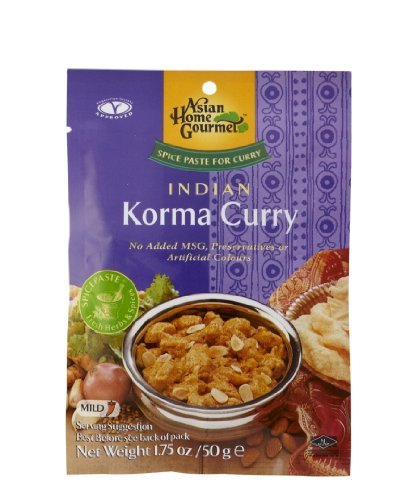 ASIAN HOME GOURMET Spice Paste for Indian Korma Curry 1.75 Ounce (Pack of 6) by Asian Home Gourmet