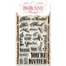 Bo Bunny You're Invited Stamps, 4 by 6-Inch