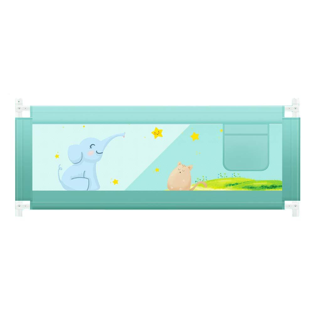 ベッドフェンス, ポータブル幼児ベッドレール、収納袋付き、縦置きエレベーターガードレール(キング/クイーンサイズベッド、3色オプション、高さ64.5cm) (サイズ さいず : 180cm) 180cm  B07K6LTZ6G
