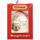 The Socking's by Pavilion Gift, Special Sister Round Blinking Ornament, 4-Inch