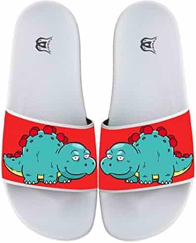 aba5fb03f3d67 Cute Dinosaur Non-slip Flip Flops Beach Pool Slide Sandal Home Floor  Slippers For Men