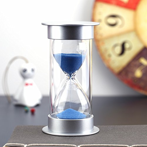 Bloss Minute Sand Timer Security Fashion Hourglass 15 Minutes Sand Clock for Children, Decoration, Souvenir, Games, Christmas Birthday Gift - Blue