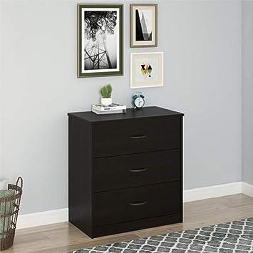Finch 3 Drawer Chest Espresso Drawer Dresser Only Dark Cherry