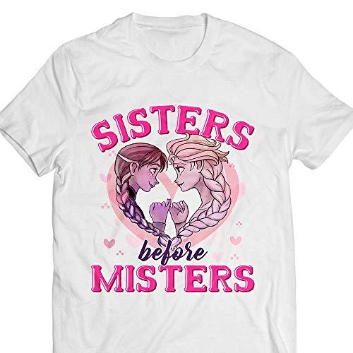 Sisters Before Misters Princess Sisterhood Cartoon Character Customized Handmade T-Shirt Hoodie/Long Sleeve/Tank Top/Sweatshirt