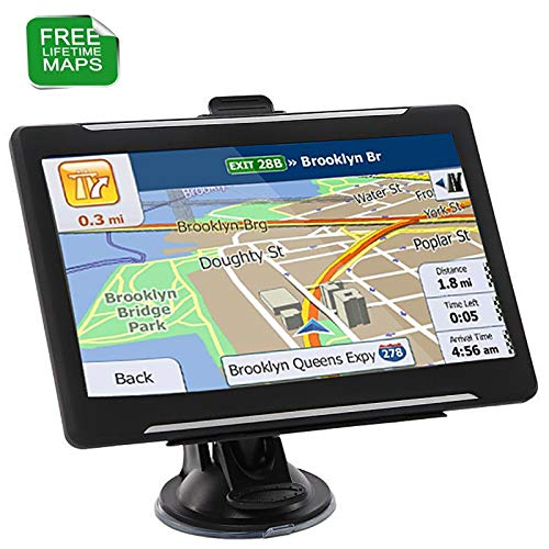 GPS Navigation for Car,7 Inches Touch Screen GPS Navigator System with Free Lifetime Maps 8G Memory Multil Languages Spoken Direct Access Driver Alerts