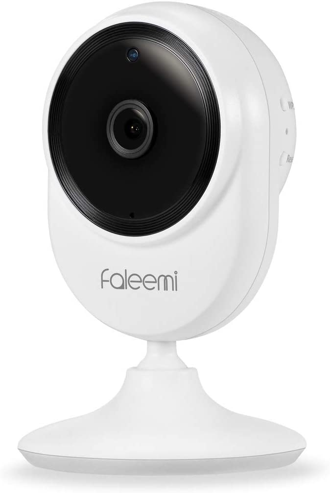 Faleemi 1080P Home WiFi IP Camera, Wireless Security Camera, Super Wide 145 Viewing Angle, Micro SD Recording, Two Way Audio, Night Vision for Baby Nanny Elder Monitor
