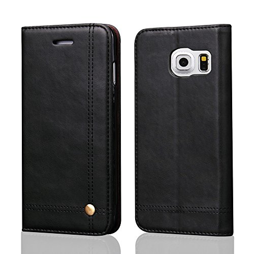 - Galaxy S7 Edge Case, Galaxy S7 Edge Wallet Case, [Magnetic Closure] PU Leather Flip Protective Cover with Kick Stand Function Cash/Card Slot Folio Case for Samsung Galaxy S7 Edge - Black