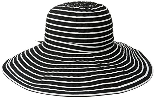 San Diego Hat Hats Hat - Black/White - One (Ribbon Sun Hat)