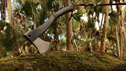 Schrade SCAXE2L 15.7in Large Survival Axe with 4.2in Stainless Steel Blade and Glass Fiber PA and TPR Rubber Handle for Outdoor Survival Camping and Everyday Tasks by Schrade (Image #5)