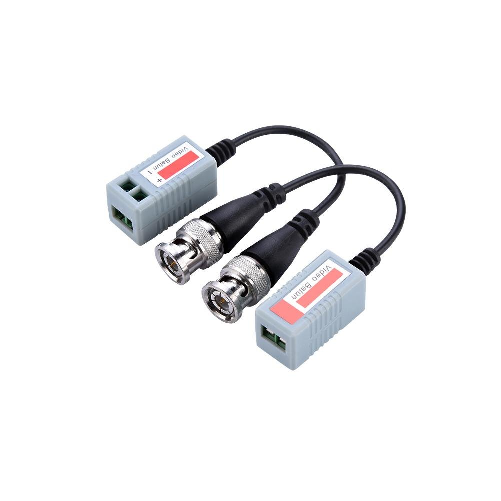 Zerone 2pcs Passive Video Balun Transceiver for Mini CCTV BNC HD-CVI/TVI/AHD,HD Lightning Protection