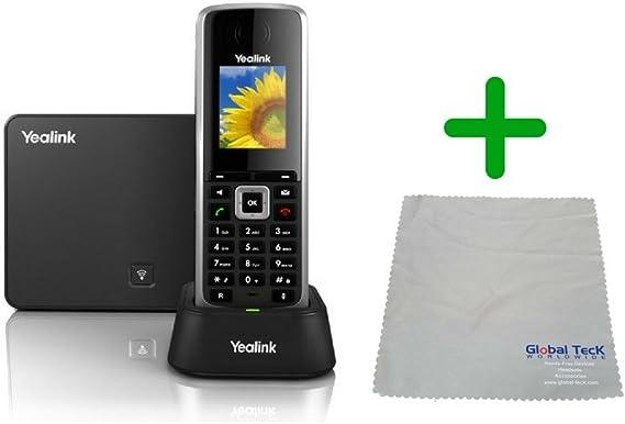 Yealink W52P - Unidad de base y teléfono inalámbrico sin cable, incluye fuente de alimentación, gamuza de microfibra #YEA-W52P-B: Amazon.es: Electrónica