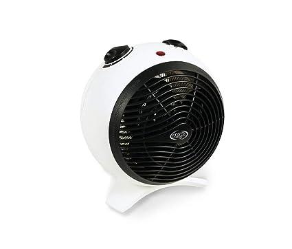 ARGO KIRA ICE Termoventilatore con Resistenza a Filo, BiancoNero, due modalità di funzionamento: Eco e Comfort, Dimensioni 235x235x200