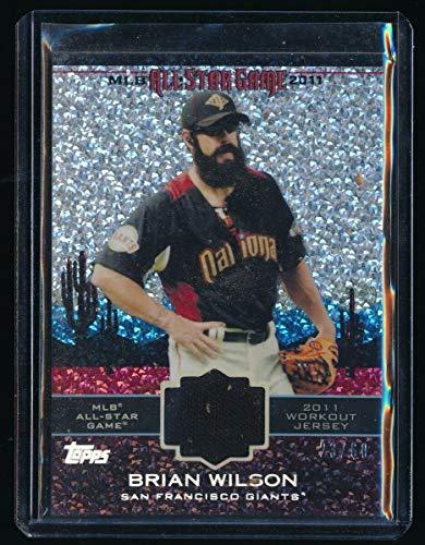 BRIAN WILSON 2011 TOPPS UPDATE ALL-STAR STITCH DIAMOND ANNIVERSARY JERSEY 23/60