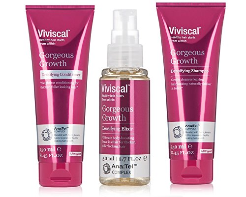 Viviscal Hair Growth Trio Value Set Shampoo Conditioner & Elixir