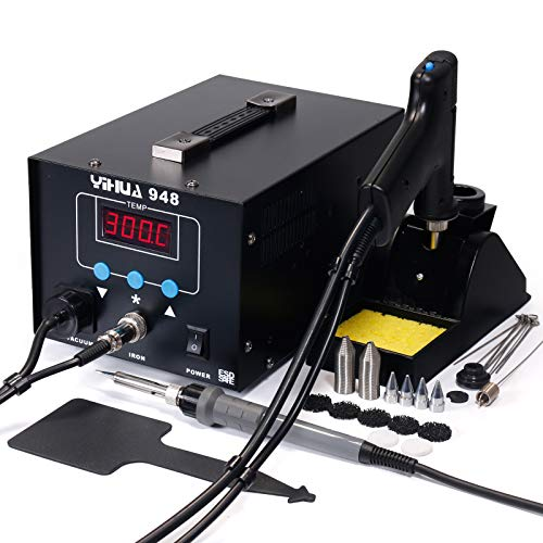 - YIHUA 948 ESD Safe 2 in 1 80W Desoldering Station and 60W Soldering Iron- Desoldering Gun and Soldering Station °F /°C